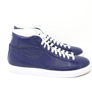 Nike Blazer Mid PRM Premium Binary Blue Navy White Gum 429988-402 sb basketball